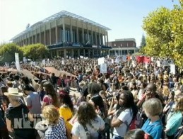 The student strike at UC Berkeley mobilized thousands of students. – Video: Brandon Jourdan