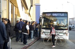 """BART had shut down the station so that it would slow the pace of protesters who could have used the BART to get to the rally but had to rely on Oakland's slow ass bus system to make their voices heard,"" MOI JR explains. – Photo: Demondre Ward"