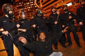 "Ciccariello-Maher writes that ""nearly every riot cop in the street was white"" while ""the functional vanguard was composed largely of the young Black teenagers most acutely aware of their relationship to the police."" – Photo: Jay Finneburgh, IndyBay"