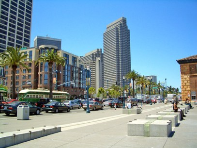 The Embarcadero as an example of a park edge street