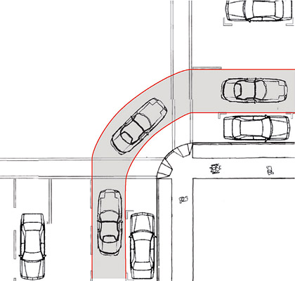 Curb radius changes sf better streets to design for a vehicle turn left maxwellsz