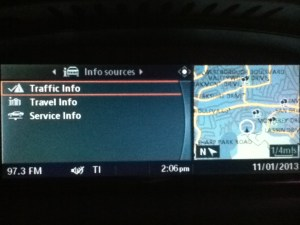 Traffic Info source enabled in iDrive