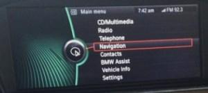 BMW CIC Navigation