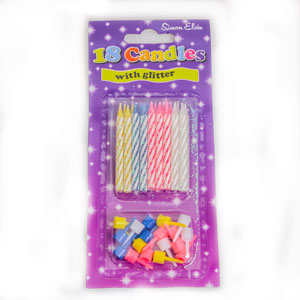 assorted colours birthday cake candles