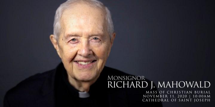 Monsignor Richard Mahowald – Mass of Christian Burial