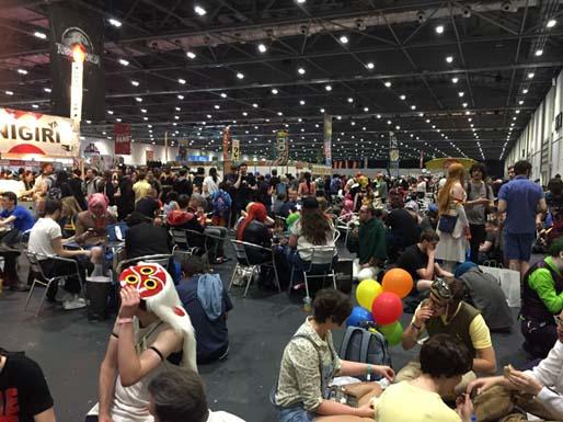 The Comic-con hall.