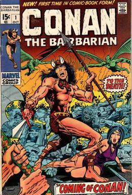 Conan the Barbarian comic-book first issue retrospective (video).