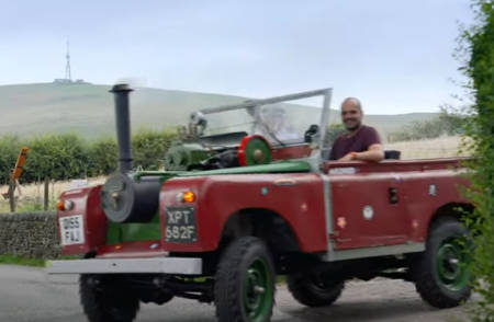 Steam-powered steampunk Land Rover (project).