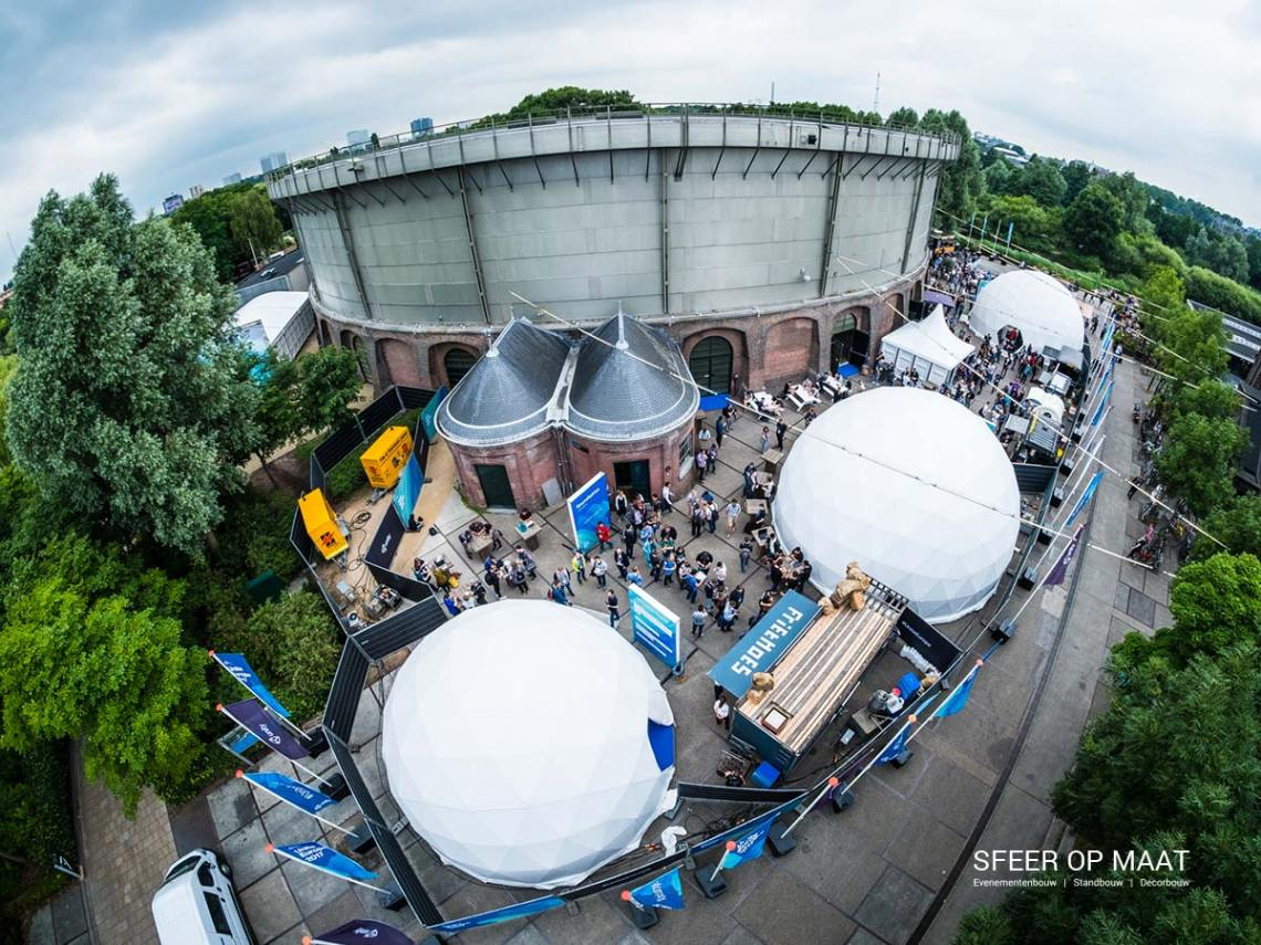Het evenement van Unity Unite Europe 2017 Westergasfabriek buiten.