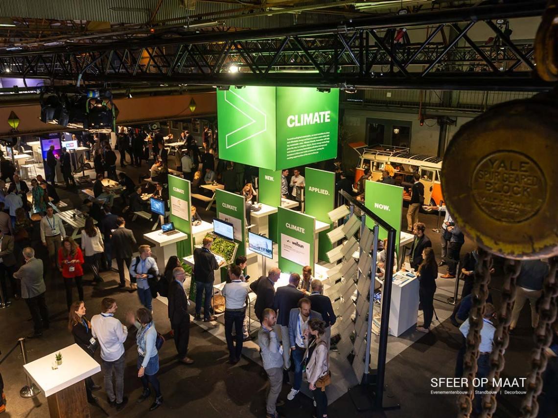 Accenture Innovatie Summit een jaarlijks evenement met Award uitreiking. Sfeer op Maat bouwde per categorie een eigen stand. Categorie Climate