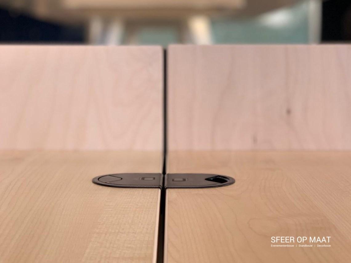 Heijmans detail van bureaus en dividers