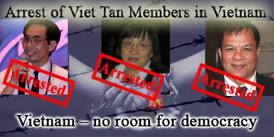 Vietnamese dissidents arrested