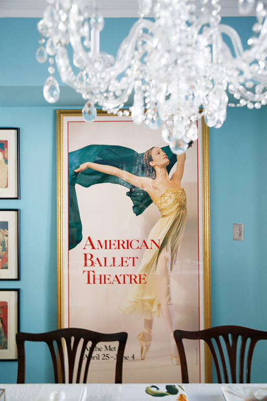 dining room with large american ballet theatre print / sfgirlbybay