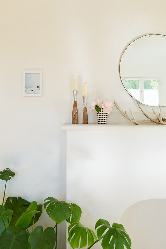 white mantle with circular mirror / sfgirlbybay