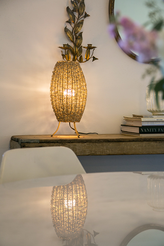 table lamp with Phillips warm LED light bulb / sfgirlbybay