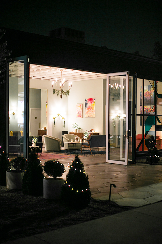 the fig house at night for skyy holiday party / sfgirlbybay