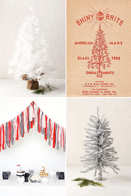 faux miniature christmas trees and we anderson inspired holiday decor / sfgirlbybay