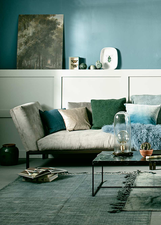 modern home decor in shades of green and blue / sfgirlbybay