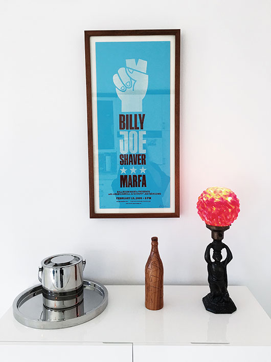 framed concert poster and homewares / sfgirlbybay