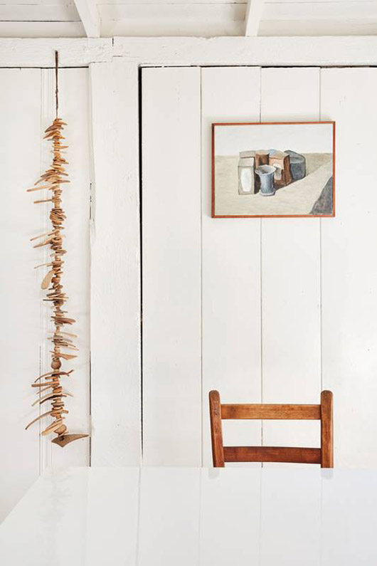 art hung on shiplap wall. / sfgirlbybay