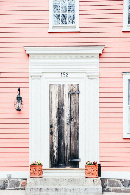 pink siding with white trim / sfgirlbybay