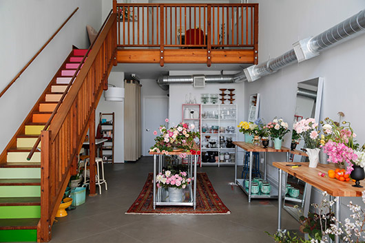 bright and colorful floral design studio, tulipina. / sfgirlbybay