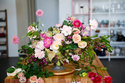 tulipina floral arrangement by owner kiana underwood. / sfgirlbybay