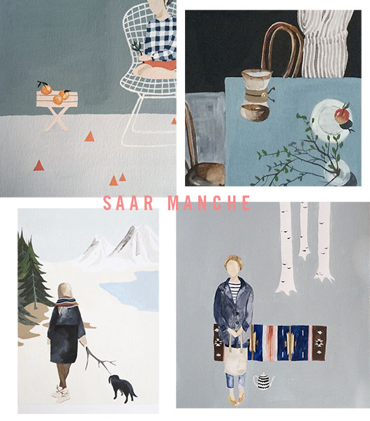 home tour of illustrator saar manche / sfgirlbybay