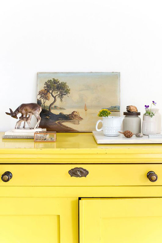 yellow dresser and vintage collectibles / sfgirlbybay