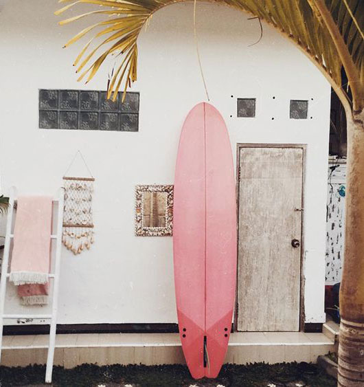 pink surfboard and housewares / sfgirlbybay