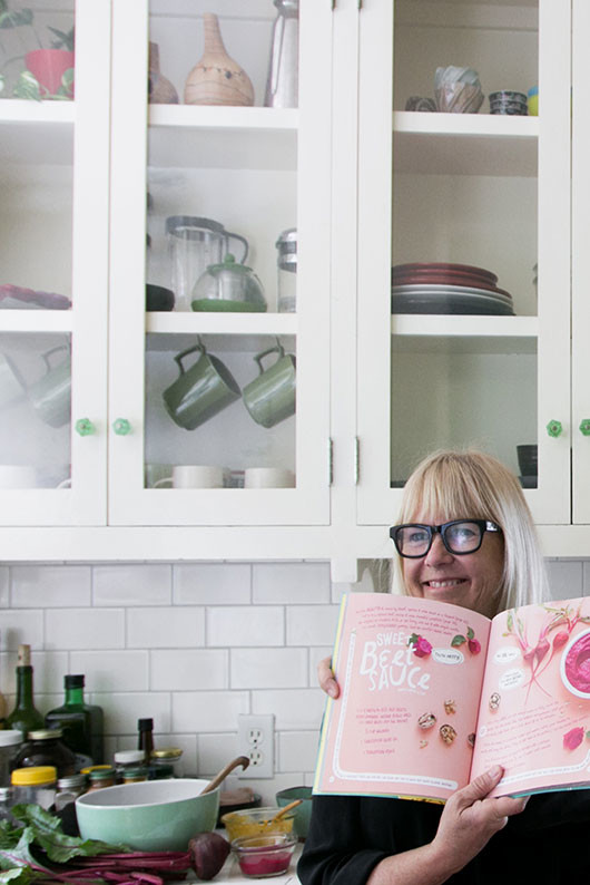 victoria smith in ruby roth's kitchen with her new cookbook for kids / sfgirlbybay