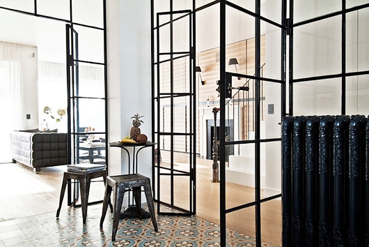 black steel frame and glass window room dividers / sfgirlbybay