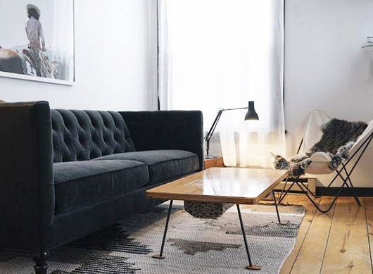 angular table legs and a classic butterly chair, via jennings hotel. / sfgirlbybay