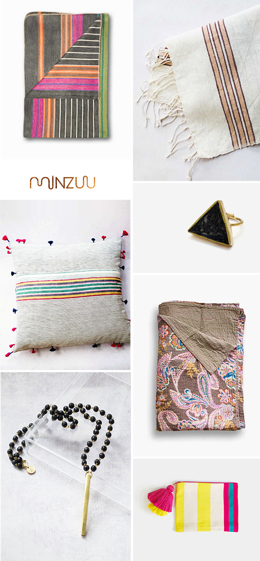 artisanal blankets, pillows and jewelry via minzuu / sfgirlbybay