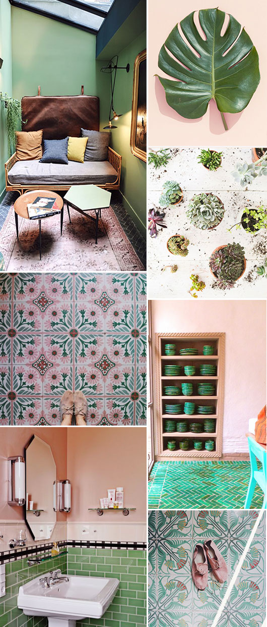 pale pink and green inspirational imagery / sfgirlbybay