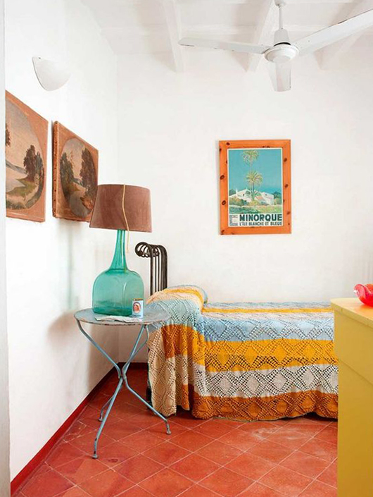 mediterranean vacation home with eclectic bedroom decor / sfgirlbybay