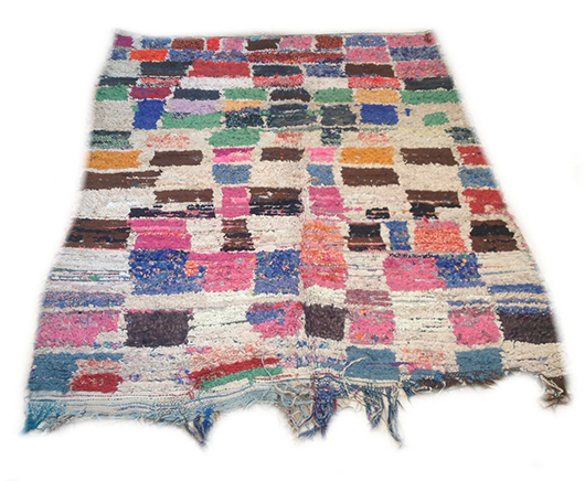 colorful boucherouite rug from The Sunny Side & Co. / sfgirlbybay