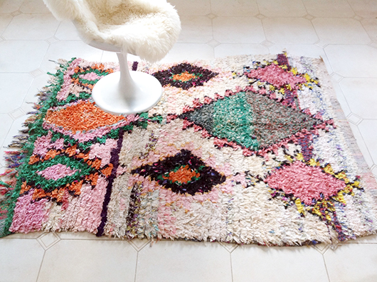 boucherouite colorful rug from The Sunny Side & Co. / sfgirlbybay