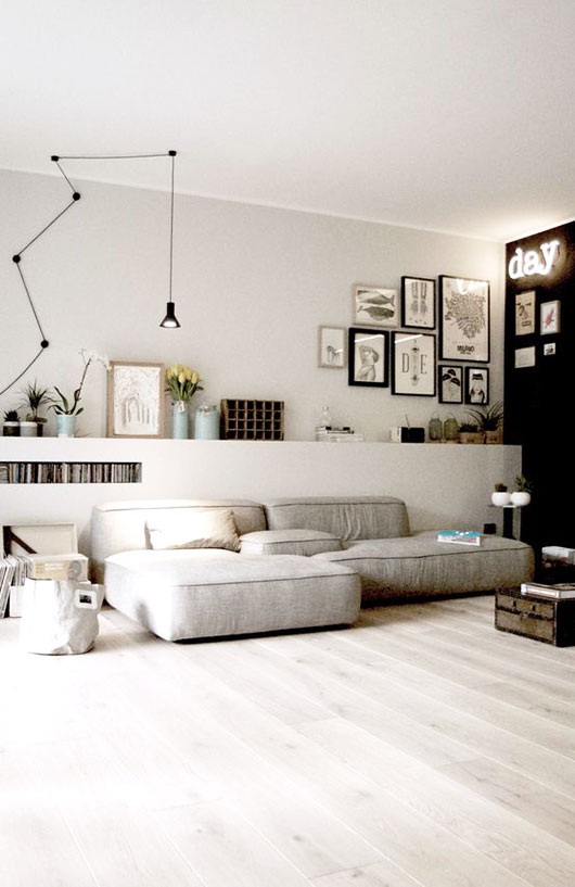 modern low sectional sofa via homify. / sfgirlbybay