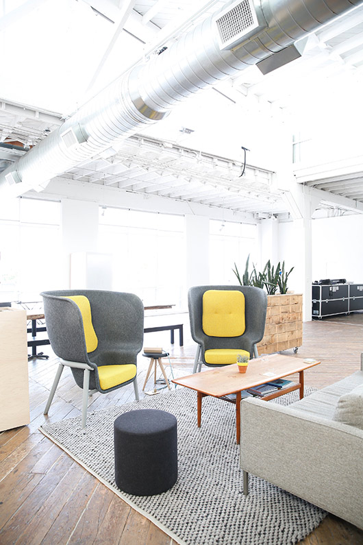 mod co-working space with concierge services. / sfgirlbybay