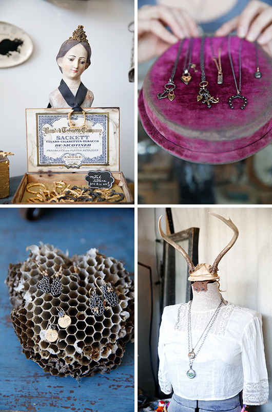 jewelry, clothing and vintage decor at modern relic shop / sfgirlbybay