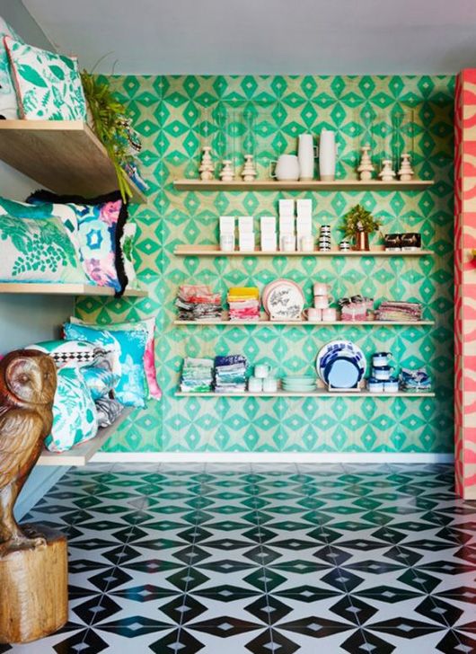 bold colors and patterns inside bonnie and neil melbourne. / sfgirlbybay