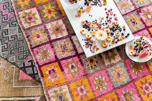 abc carpet and home moroccan style area rugs styled for indoor picnic / sfgirlbybay