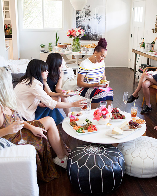 brunch with terry mcmillan at my home with cocktails and inspiring women in attendance / sfgirlbybay