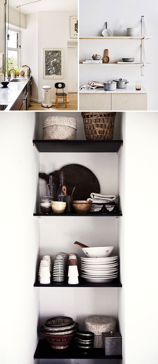 kitchen decor inspiration for displaying glassware and dishes / sfgirlbybay