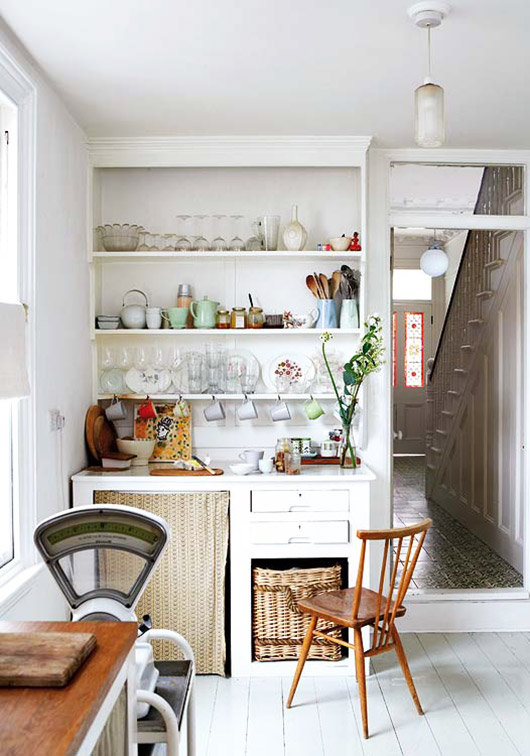 mid-century modern meets victorian kitchen decor via mi casa / sfgirlbybay