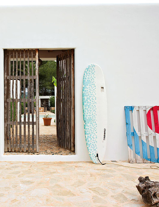 blue and white surfboard / sfgirlbybay