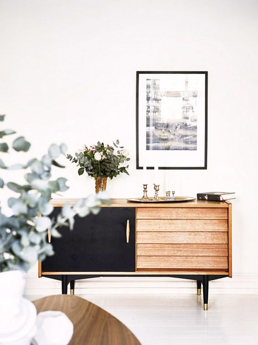 credenza with black cabinet front / sfgirlbybay