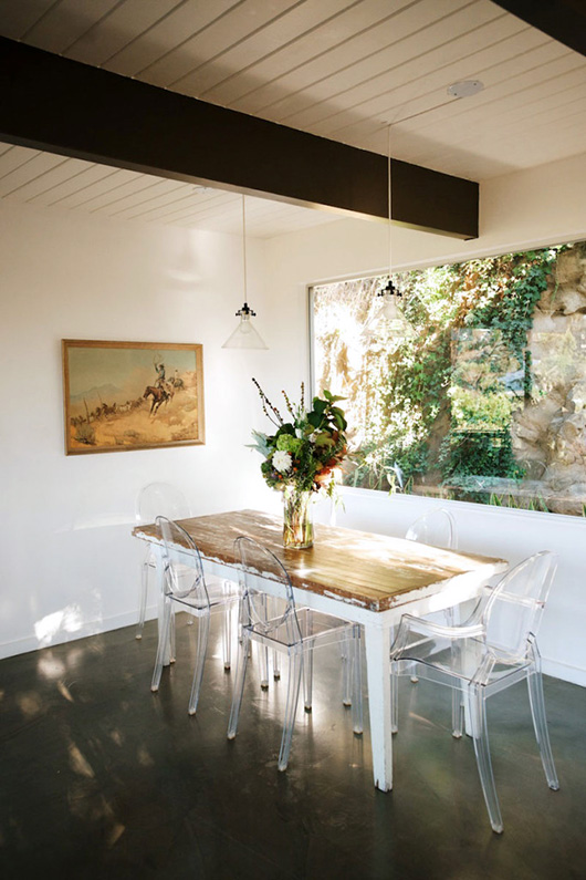 dining room with picture window / sfgirlbybay