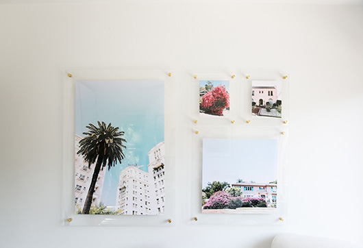 art gallery wall created with artifact uprising float frames / sfgirlbybay